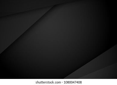 black abstract background pattern stripe paper material 3d render. business technology commercial sale concept layout with copy space