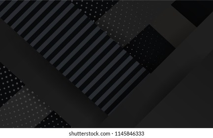 Black Abstract Background with stripes Pattern and luxury dynamic modern abstract vector background for presentation, report, abstract luxury cover.