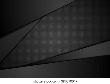 Black abstract corporate background. Digital abstract vector design. Dark illustration, black stripes