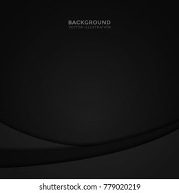 black abstract curve background vector illustration