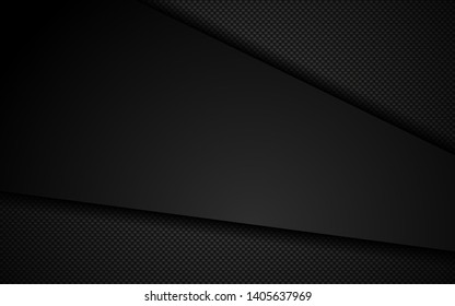 Black abstract geometric background. geometric background design with perforated metal texture. Modern shape concept. Easy to edit and customize. Vector 3d. EPS10.