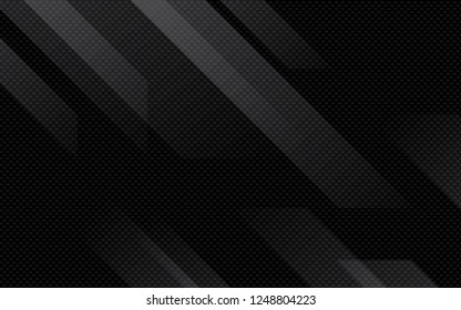 Black abstract geometric background. Modern shape concept. - Shutterstock ID 1248804223