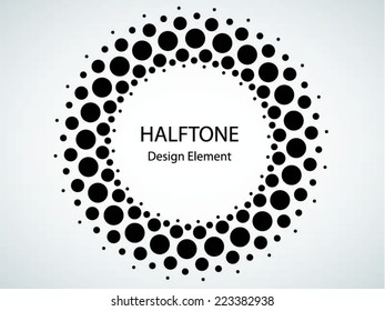 Black Abstract Halftone Logo Design Element, vector illustration