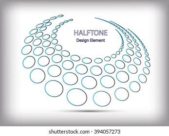 Black Abstract Halftone Logo Design Element, vector illustration