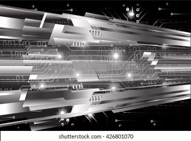 black abstract light hi speed internet technology background illustration, Background conceptual image of digital.Cyber security concept, Cyber data digital,Cyber Technology.vector.scan virus computer