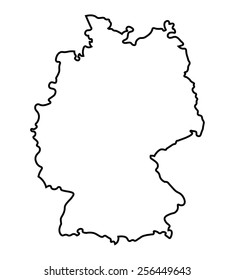 Map Of Germany Outline.Germany Outline Images Stock Photos Vectors Shutterstock