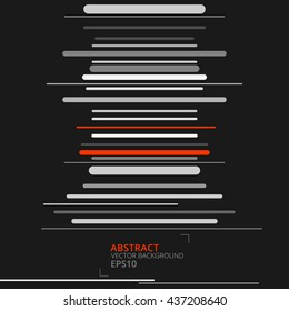 Black abstract and modern lines vector background. Concept art wallpaper