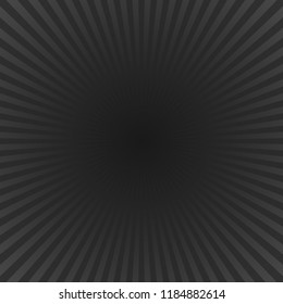 Black abstract ray background - motion vector design with radial striped rays