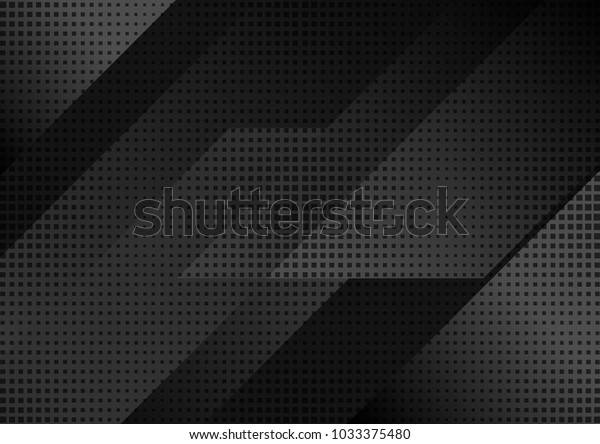 Black abstract tech geometric modern background. Vector design