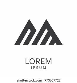 Black abstract vector logo design template