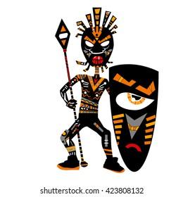 African Warrior Images, Stock Photos & Vectors   Shutterstock