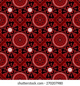 Black Ajrak Vector Pattern