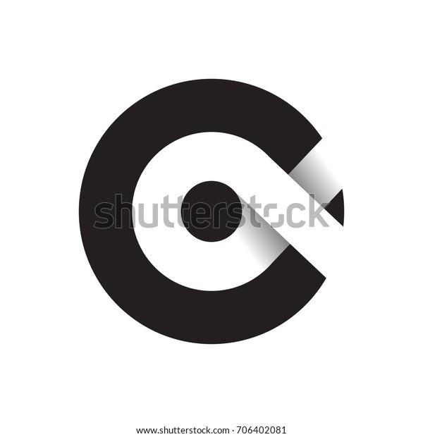 Black Alpha Abstract Icon Stock Vektorgrafik Lizenzfrei