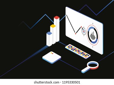 Black Analytics. Analysis data financial review.