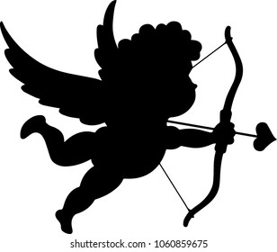 Black angel Cupidon for decoration