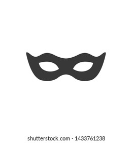 Black anonymous mask icon template black color editable. Mask symbol style vector sign isolated on white background. Simple logo vector illustration for graphic and web design.