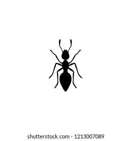 black ant silhouette icon