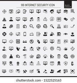 black antivirus and security icon set collection
