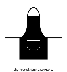 Black apron icon for protection clothes