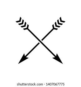 Black arrow icon on white background