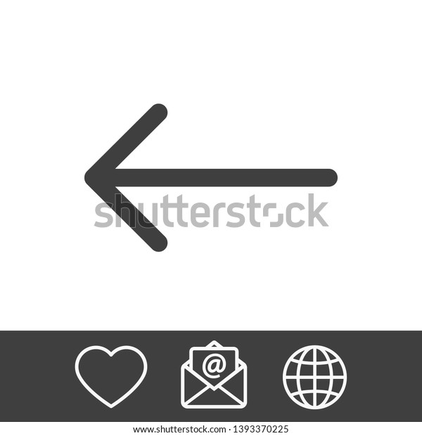 Black Arrow Icon Arrow Icon Shows Stock Vector (Royalty Free