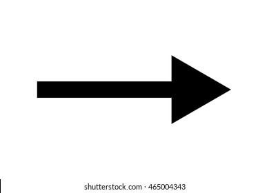 Black arrow isolated on white
