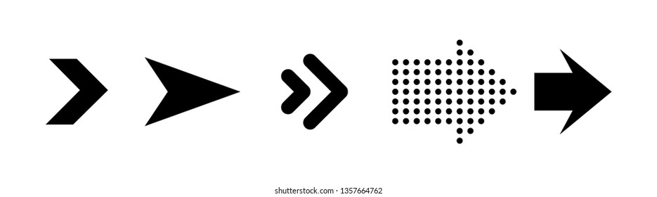 Black arrows isolated on white background
