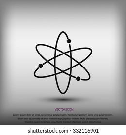 Black atom icon