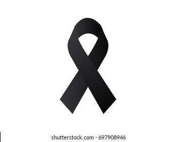 Black awareness ribbon .vector