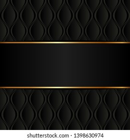 black background with decorative pattern and copy space