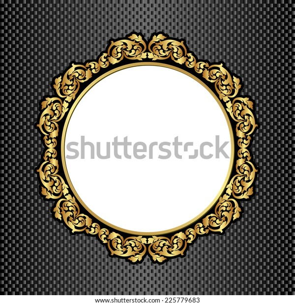 Black Background Golden Frame Transparent Space Stock Vector Royalty Free 225779683