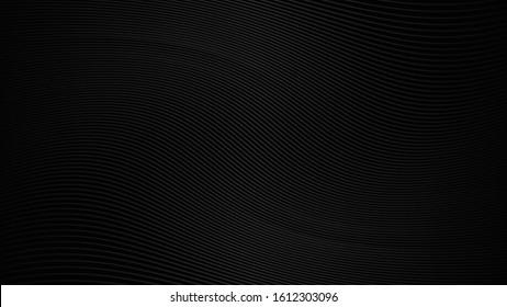 Black background with line curve design. Vector illustration. eps 10