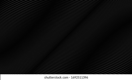 Black background with line curve design. Vector illustration. Eps10