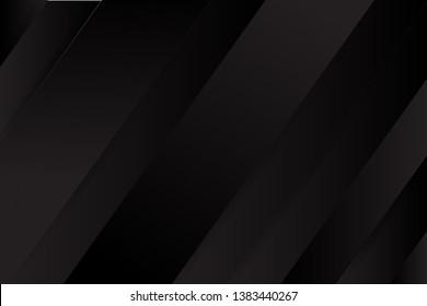 black background overlap layer dimension with line design for modern background or website