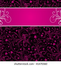 61 967 Pink And Black Pink And Black Invitation Images Royalty