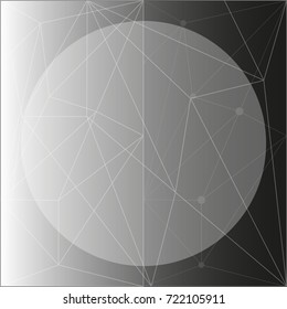 Black background with round and triangle shapes illustration