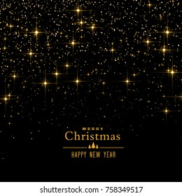 black background with sparkles and glitter for christmas festival