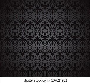 Black background, vector illustration