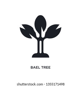 black bael tree isolated vector icon. simple element illustration from religion concept vector icons. bael tree editable logo symbol design on white background. can be use for web and mobile