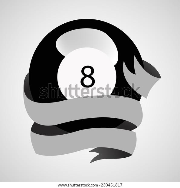 Black ball with ribbon
