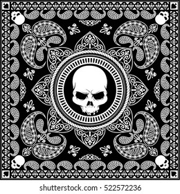 Black Bandana cool design or masker