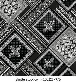 black bandanna pattern