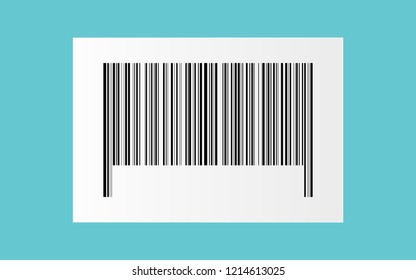 black bar code on white paper sticker for pattern and design,vector illustration.