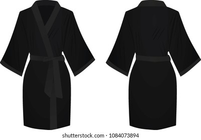 Black bathrobe. vector illustration
