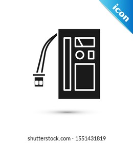 Black Battery icon isolated on white background. Accumulator battery energy power and electricity accumulator battery.  Vector Illustration