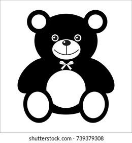 black bear cub on white background