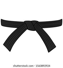 Black Belt - A cartoon illustration of a Karate Black Belt.