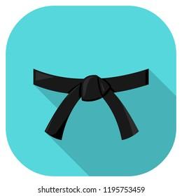 Black Belt Flat Icon Illustration