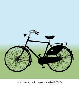 Black bicycle gents model