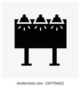 Black bilboard icon vector